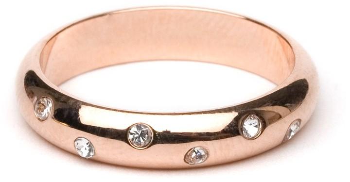 BaubleBar Rose Gold Crystal Stud Ring