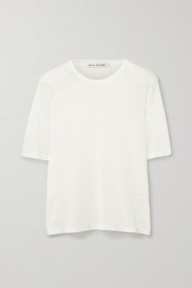 FRANCES DE LOURDES Martin Slub Modal And Silk-blend T-shirt - White