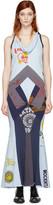 Junya Watanabe Blue Patchwork Print Mix Dress