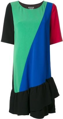 Boutique Moschino Panelled Ruffle Dress