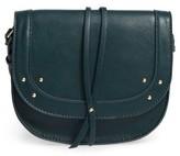 Sole Society Faylina Studded Faux Leather Saddle Bag - Beige
