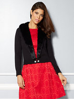 New York & Co. Eva Mendes Collection - Gladys Fur-Trim Cardigan