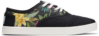 Toms Black Multi Floral Canvas Women's Cordones Sneakers