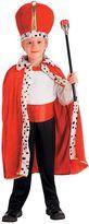 Kids King Red Robe & Crown Costume Set