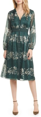 Ted Baker Delyla Meadow Sweep Long Sleeve Midi Dress