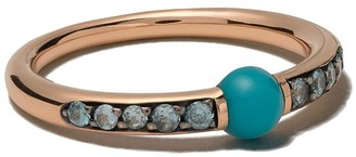 Pomellato 18kt rose gold Mama non mama turquoise and zircon ring