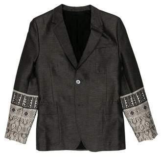 Gucci Silk-Blend Embroidered Sport Coat