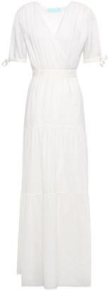 Melissa Odabash Emily Gathered Gauze Maxi Wrap Dress