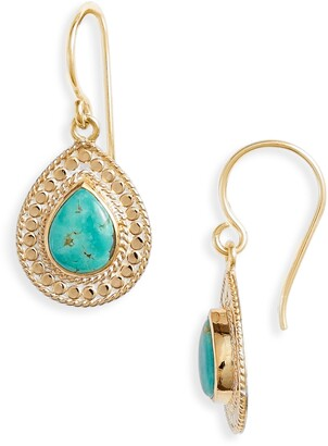 Anna Beck Turquoise Teardrop Earrings