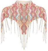 Beaded chain detail cape