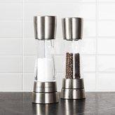 Crate & Barrel Cole & Mason ® Derwent Stainless Steel Adjustable Salt and Pepper Mills