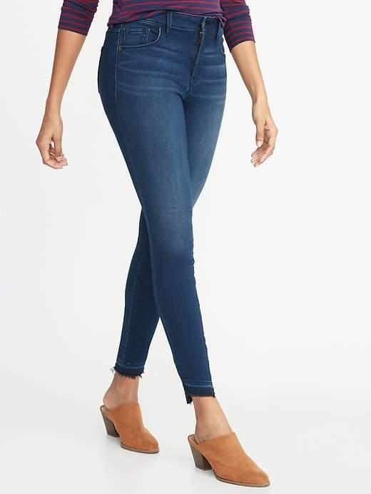 Old Navy Mid-Rise Built-In Warm Rockstar Super Skinny Step-Hem Jeans for Women