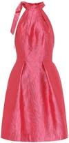 Monique Lhuillier Halterneck brocade dress