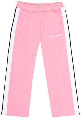 Palm Angels Kids Logo printed track pants