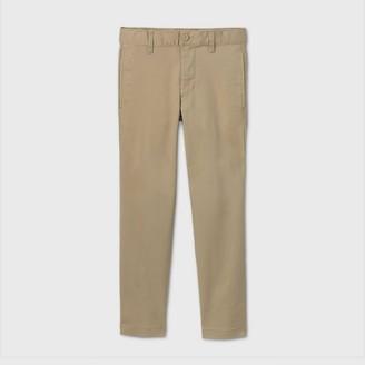 Cat & Jack Boys' Flat Front Stretch Uniform Straight Fit Pants - Cat & JackͲ