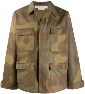 Marni Camouflage-Print Shirt Jacket