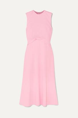 Victoria Beckham Draped Georgette Midi Dress - Baby pink