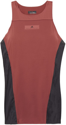 adidas by Stella McCartney Mesh-paneled Stretch Tank