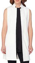 Tahari ASL Sleeveless Bi-Stretch Long Vest