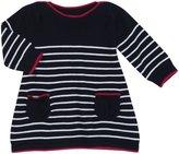 Jo-Jo JoJo Maman Bebe Breton Dress (Baby)-Navy/White-0-3 Months