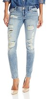 Dittos Women's Selena Ankle Skinny, Light Destroyed Rip N' Repaired