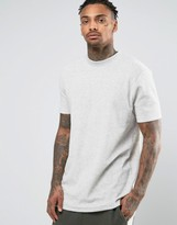 Asos Longline T-Shirt In Towelling
