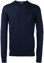 Dolce & Gabbana bee & crown embroidered jumper - men - Wool - 50