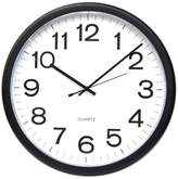 "Universal Round Wall Clock, Black, 12"""
