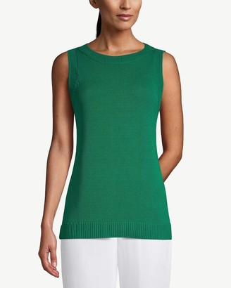 Chico's Textured Bateau-Neck Sweater Tank