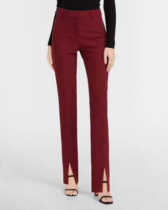 Express High Waisted Supersoft Slit Front Slim Columnist Pant