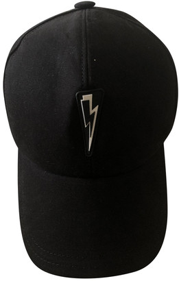 Neil Barrett Black Cloth Hats & pull on hats