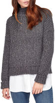 Miss Selfridge Chunky Mockneck Sweater with Blouse Layer