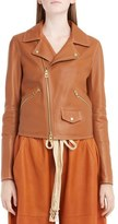 Loewe Women's Nappa Leather Biker Jacket
