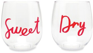 Kate Spade Sweet And Dry Acrylic Wine Glass - Set Of 2