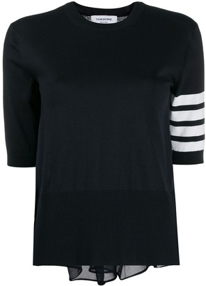 Thom Browne Pleated Back Knitted Top