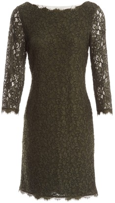 Diane von Furstenberg Khaki Synthetic Dresses