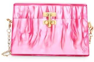 Edie Parker Miss Mini Acrylic Crossbody Bag