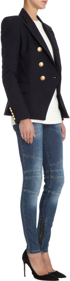 Balmain Gold Button Jacket