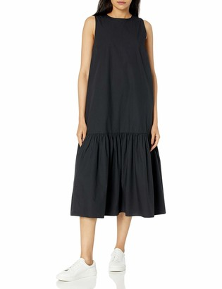 The Drop Women's Ilana Loose Sleeveless Wide-Hem Poplin Maxi Dress