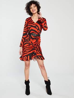 River Island Animal Print Tea Dress - Red