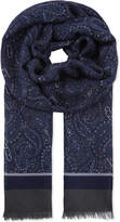 Corneliani Paisley wool and silk-blend scarf