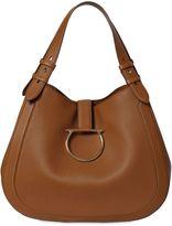 Salvatore Ferragamo Perrine Grained Leather Shoulder Bag