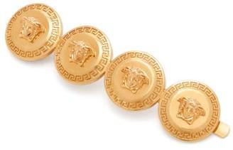 Versace Medusa-coins Metal Left-side Hair Clip - Gold