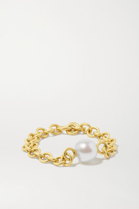 Spinelli Kilcollin Gravity 18-karat Gold Pearl Ring