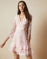 Ted Baker Multi Lace V Neck Tunic Dress