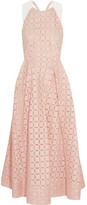 Roland Mouret Baldry Devoré Cotton-blend Dress - Blush