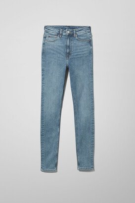 Weekday Body Extra High Skinny Jeans - Black
