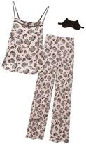 Cosabella Cadeau Floral Cat Print PJ Set And Mask