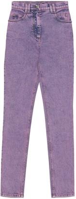 Balmain Logo Embroidered Skinny Denim Jeans