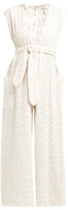 Mara Hoffman Whitney Cotton-gingham Jumpsuit - Womens - Ivory